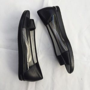COLE HAAN Size 7.5 Nike Air Black Peep Toe shoes